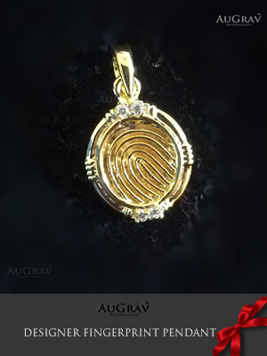 Gold name pendant for couples