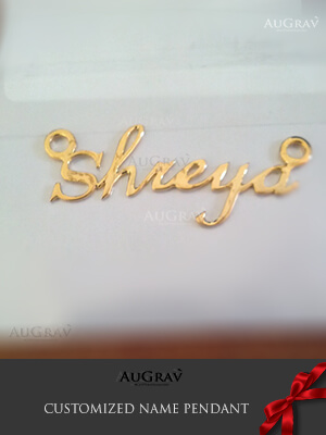 Making of gold name pendants, Custom Made Name Pendant Design