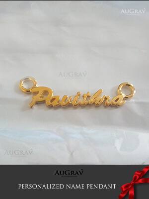 Gold Chain with Name Pendant, Customized Gold Name Necklace