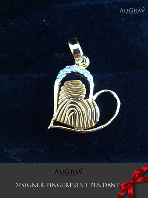 Fingerprint Gold Pendant Designing Process