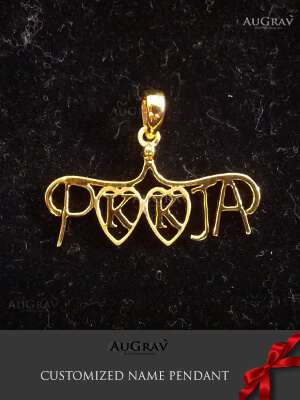 Making of Personalized Name Pendants