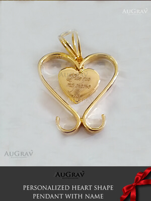 Gold Locket Design With Name, gold Heart pendant with for women
