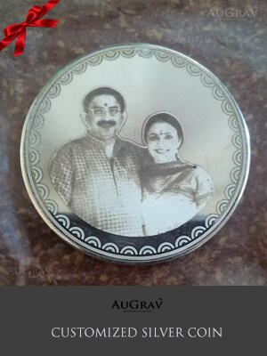 Silver coin gift for first anniversary, Engraved Silver Coin As Gift, Personalized Photo Silver coin
