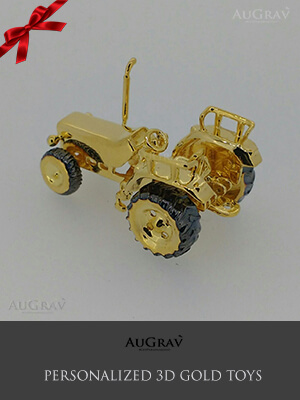 Tractor Gold Toy Gift For Boys