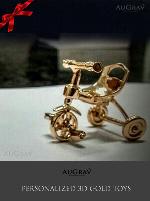 gold Bicycle toy gift for kids
