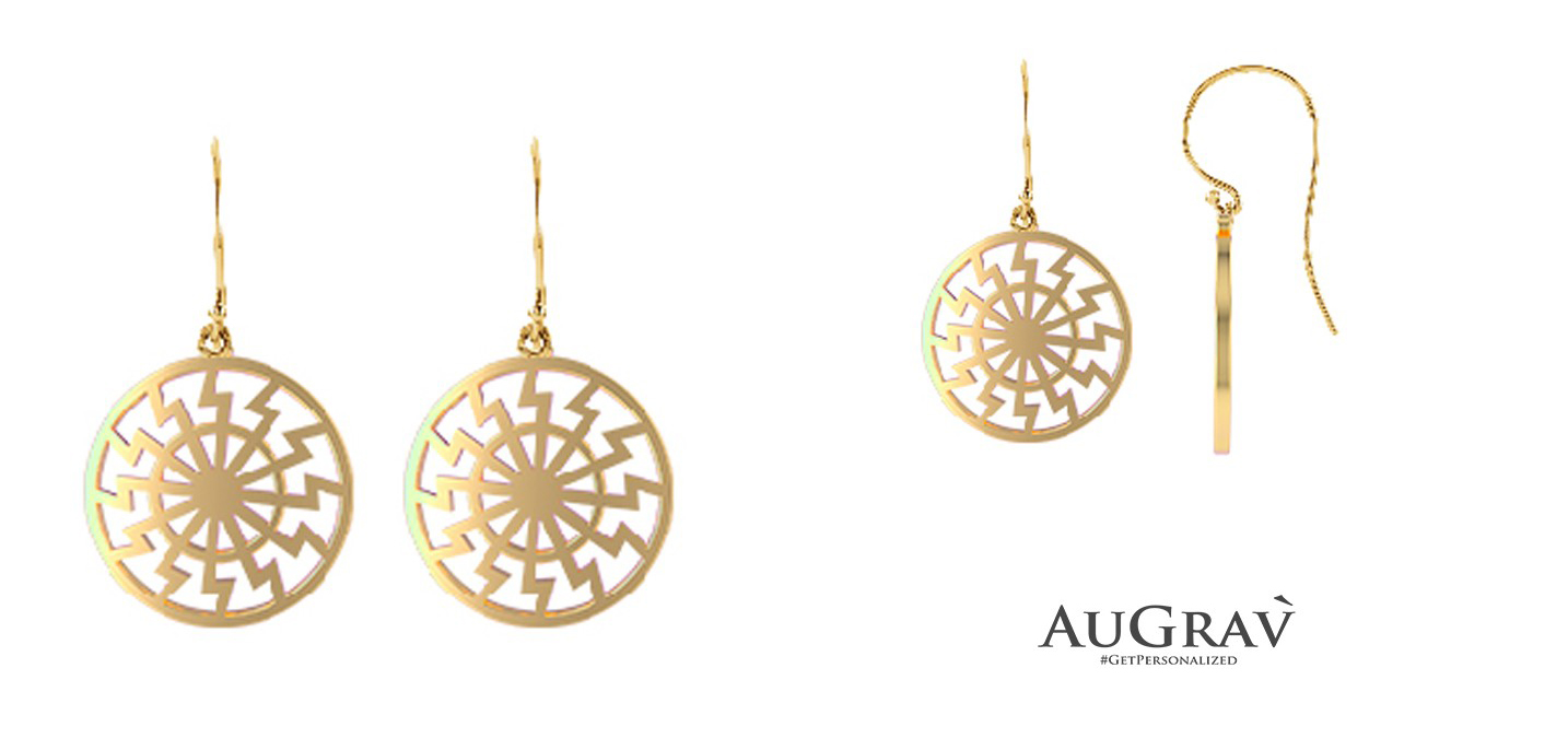 Filigree gold earrin
