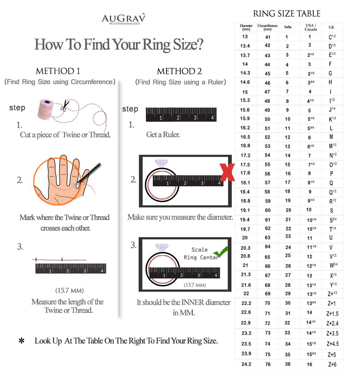 MEASURING YOUR RING SIZE AT HOME: IT IS MUCH EASIER THAN YOU HAVE IMAGINED