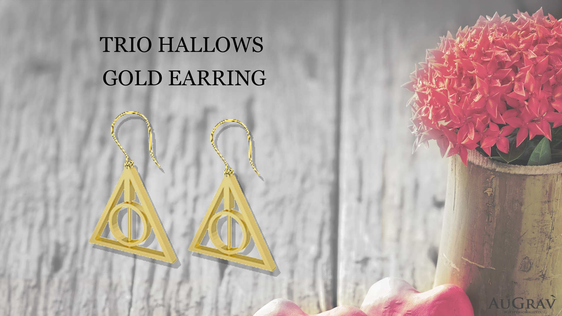 TRIO HALLOWS GOLD EARRING