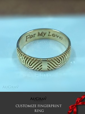 Personalized Love Fingerprint Rings