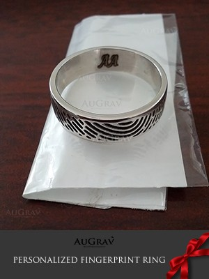 Unique Fingerprint Anniversary Ring