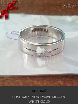 Custom White Gold Ring For Men