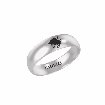 Taurus Zodiac Sign Silver Ring (2)