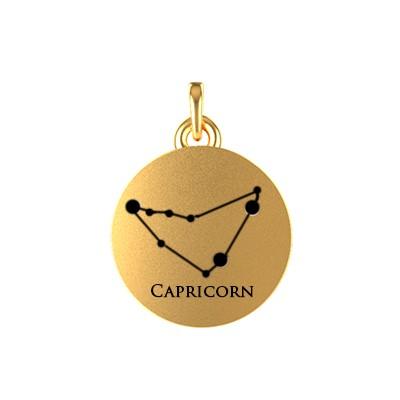 Capricorn20Zodiac20Sign20Constellation20Gold20Pendant