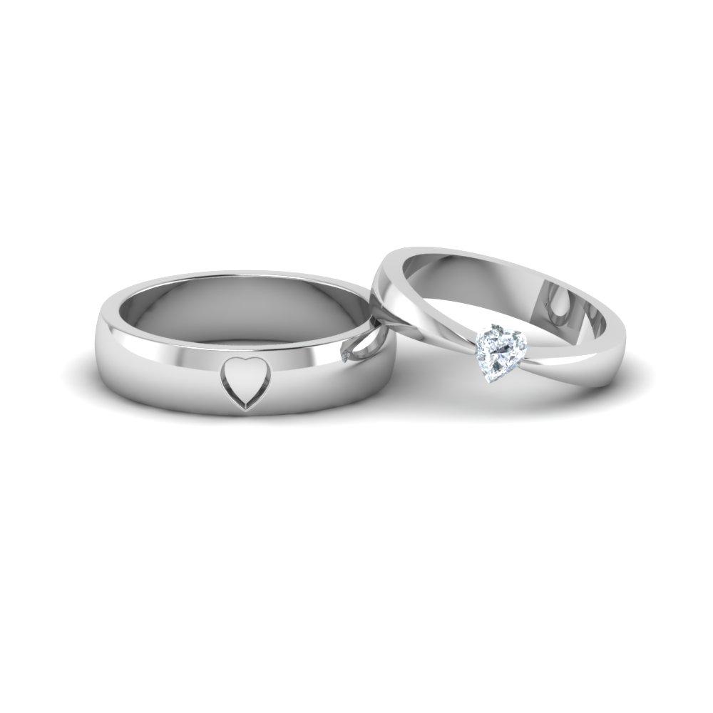 Platinum Wedding Rings.Platinum Heart Shaped Diamond Ring