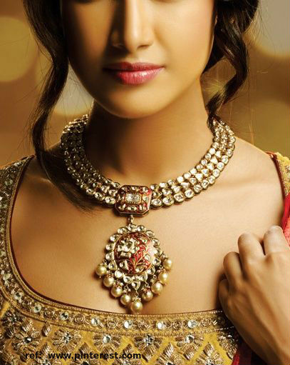jewellery #big kundan necklace #rajasthani kundan jewellery design