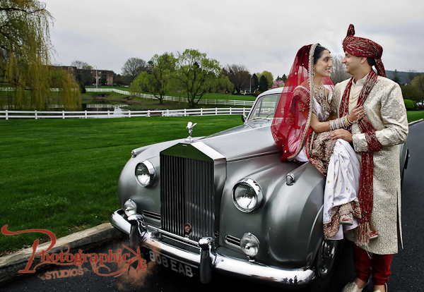 indian_wedding_indian_groom_indian_bride_white_car_front