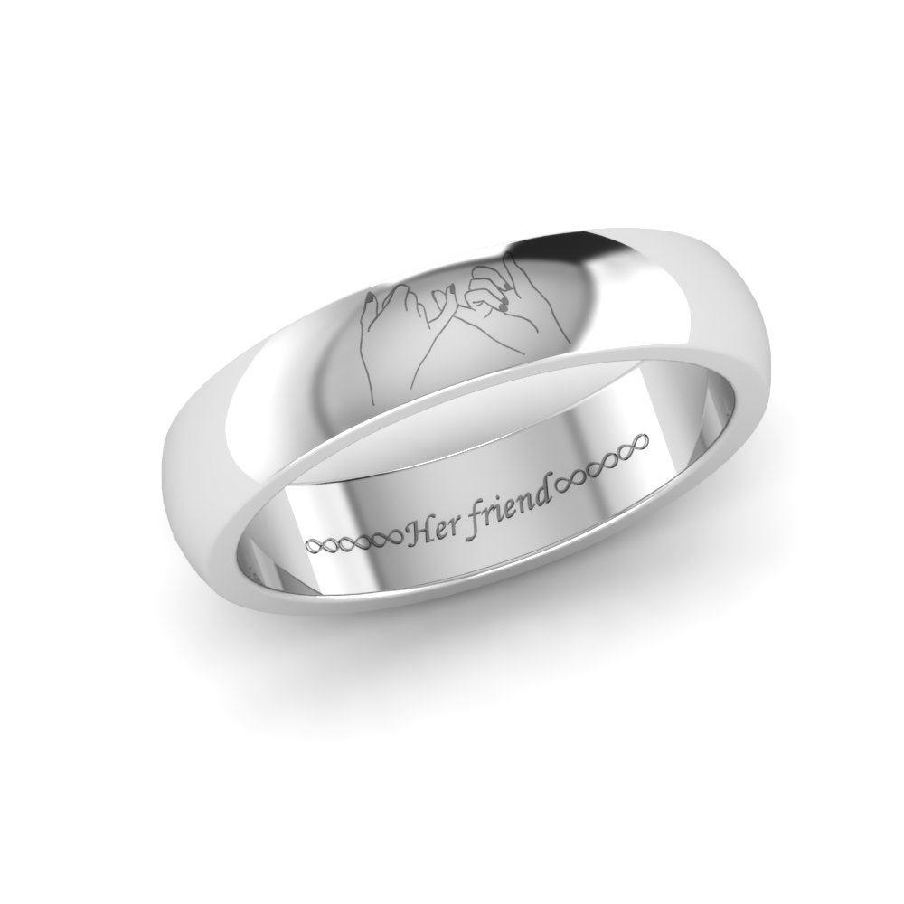 Name Engraved Platinum Couple Rings Platinum Rings With Name