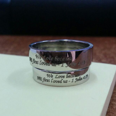 Customized See Through Cross Platinum Ring (2)