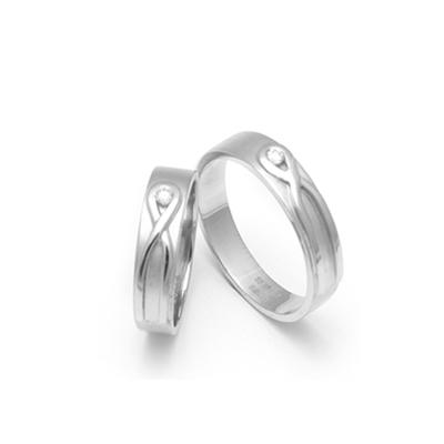 Designer Eternity Couples Platinum Rings (2)