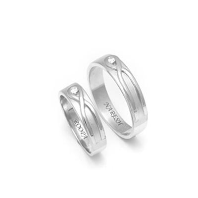 Designer Eternity Couples Platinum Rings (3)