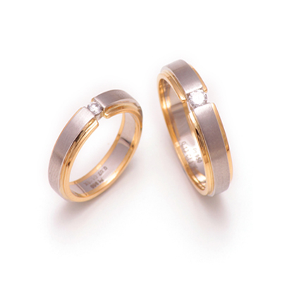 Designer Platinum Yellow Gold Couples Rings