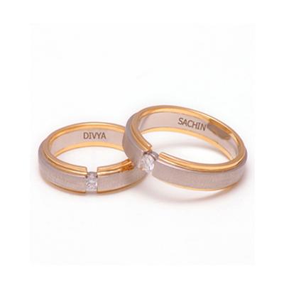 Designer Platinum YellowGold Couple Ring for Him & Her(3)