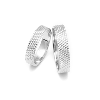 Dotted Texture Couples Platinum Ring, love bands for couples