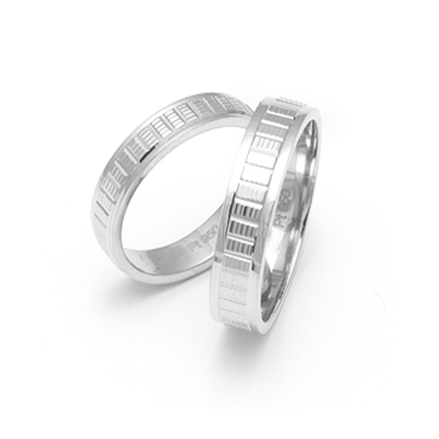 Elegant Textured platinum rings (1)