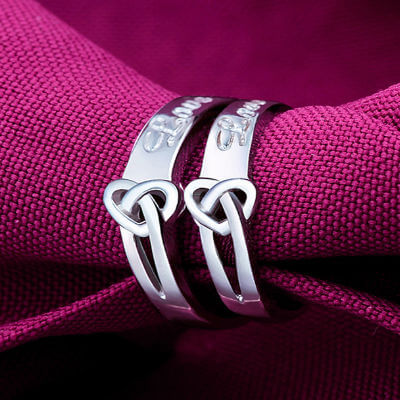 engraved silver rings, personalized silver rings, silver solitaire ring