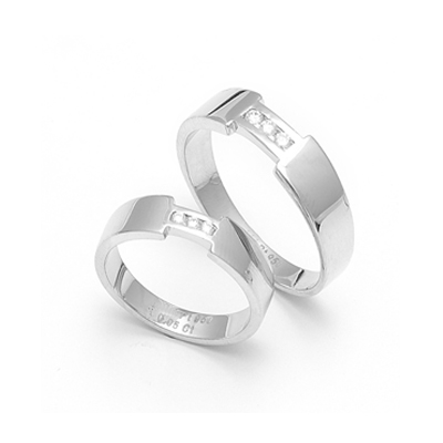 Heavy Platinum Couple FingerPrint Rings, platinum diamond wedding rings
