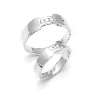 fa5ed45c6b9 Heavy platinum Couples FingerPrint Rings With Diamond