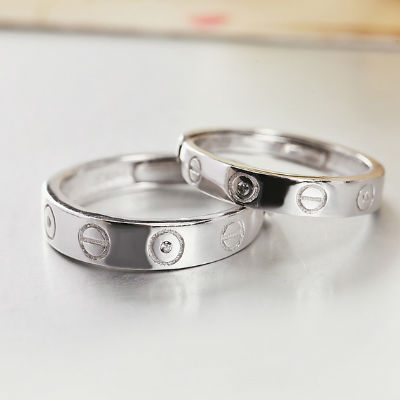 sterling silver matching plated heart white personalized couple s unique products lover gold rings