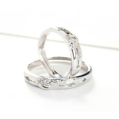 silver finger rings designs, pair rings for couples in silver, silver diamond rings