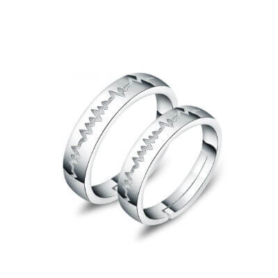 stylish silver couple rings in ludhiana, tanishq silver rings