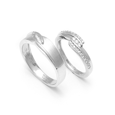 heart platinum plated jewellery couple rings pieces for dp love and girlz men twin