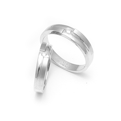 Personalized Unity Platinum Couples Ring, platinum couple rings price