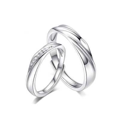Promise Sterling Silver Rings For Couples (1)