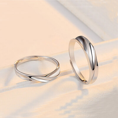 Promise Sterling Silver Rings For Couples (3)