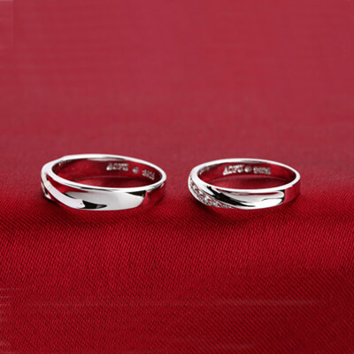 Promise Sterling Silver Rings For Couples(2)