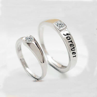 Romantic Sterling Silver Couples Ring%0A (2)