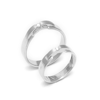 Solitaire Platinum Couple Rings With diamond (1)