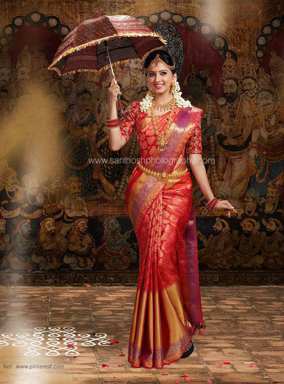 #how to wear pattu saree in south indian style #how to wear a saree step by step #saree draping styles for party #different sarees styles wear #how to wear a saree to look slim and tall