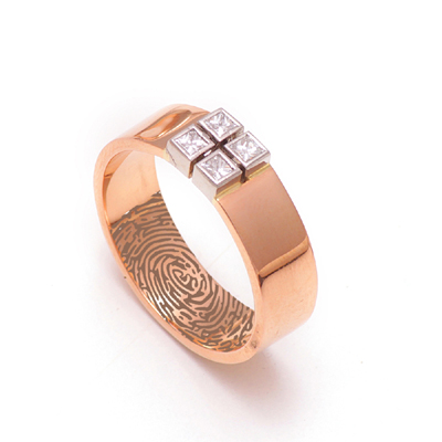 3D Printed RoseGold Platinum Wedding Ring, cost of platinum ring