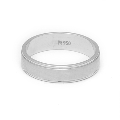 Brushed Inlay Platinum Engagement Ring, platinum wedding rings for her