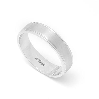 Brushed Inlay Platinum Engagement Ring, platinum jewellery price