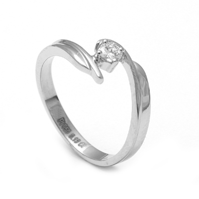 Curvy Platinum Fingerprint Ring, platinum rings price in rupees