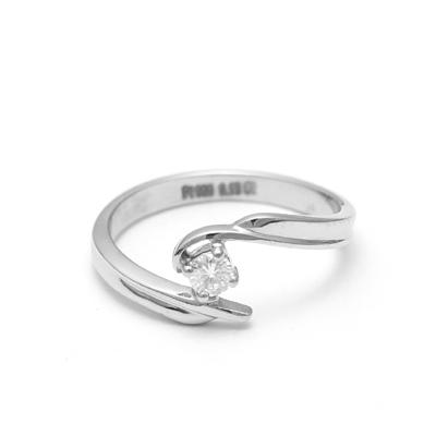 Curvy Platinum Fingerprint Ring, platinum love bands for couple