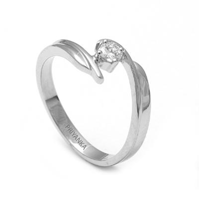 Curvy Platinum Fingerprint Ring, platinum diamond wedding rings
