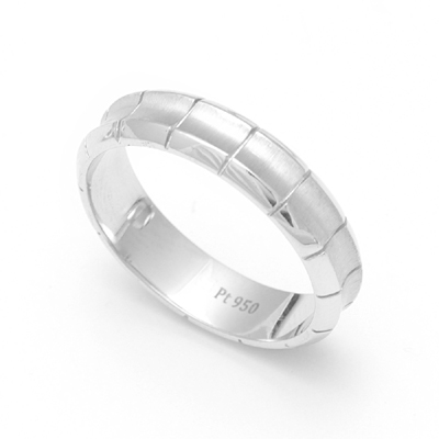 Custom Made Concave Platinum Rings, platinum love bands