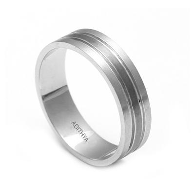 Custom Made Fingerprint Platinum Ring